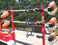 Secure Trimmer Rack for Trailers