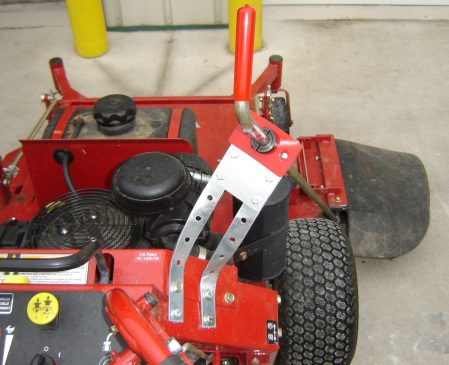 Chute Blocker on a Ferris mower