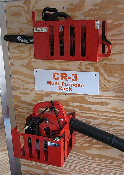 Combination Rack for Blowers, Hedge Trimmers and Chainsaws